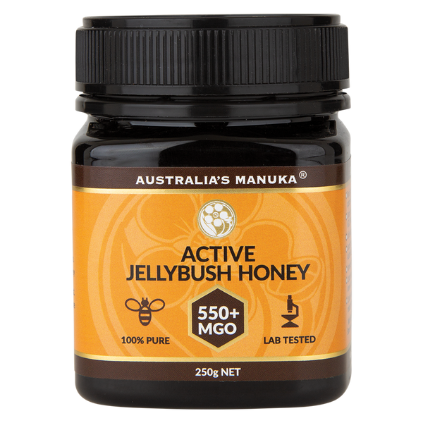 AUSTRALIA'S MANUKA Active Jellybush Honey MGO550+ - 250g