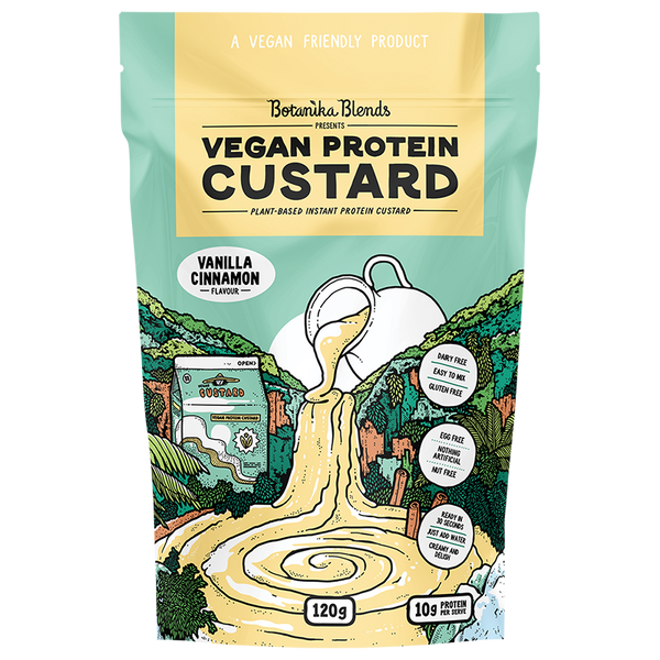 BOTANIKA BLENDS Vegan Protein Custard Vanilla Cinnamon - 120g