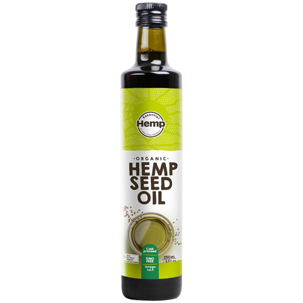 ESSENTIAL HEMP Organic Hemp Seed Oil Contains Omega 3, 6 & 9 - 250ml