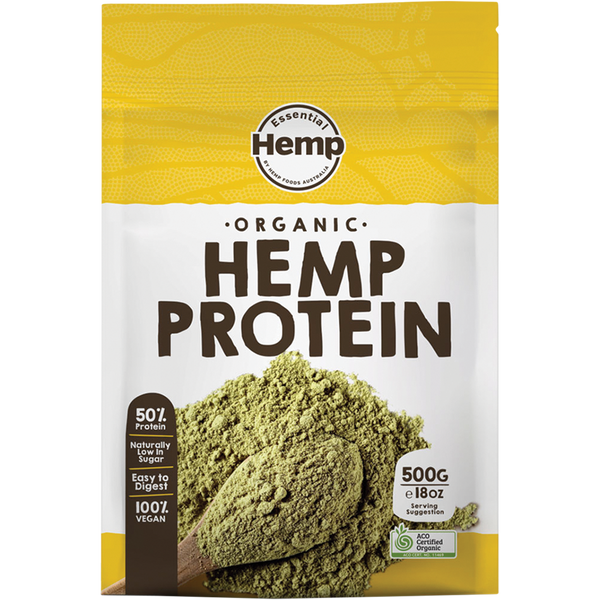 ESSENTIAL HEMP Organic Hemp Protein Contains Omega 3, 6 & 9 - 500g
