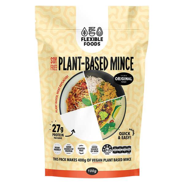 FLEXIBLE FOODS Soy Free Plant-Based Mince Original - 100g