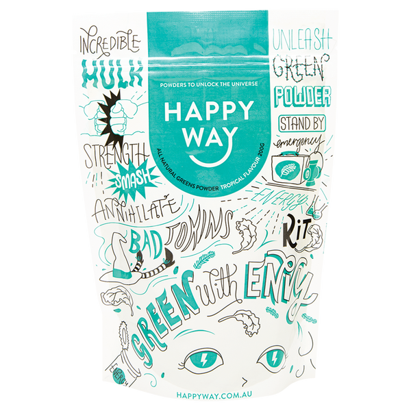 HAPPY WAY Greens Powder Tropical - 200g