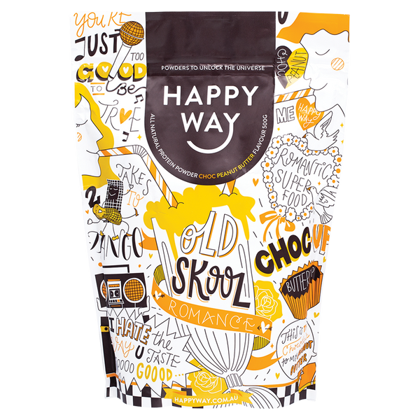 HAPPY WAY Whey Protein Powder Choc Peanut Butter - 500g