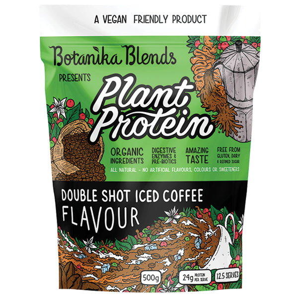 BOTANIKA BLENDS Plant Protein - Double Shot Iced Coffee 500g