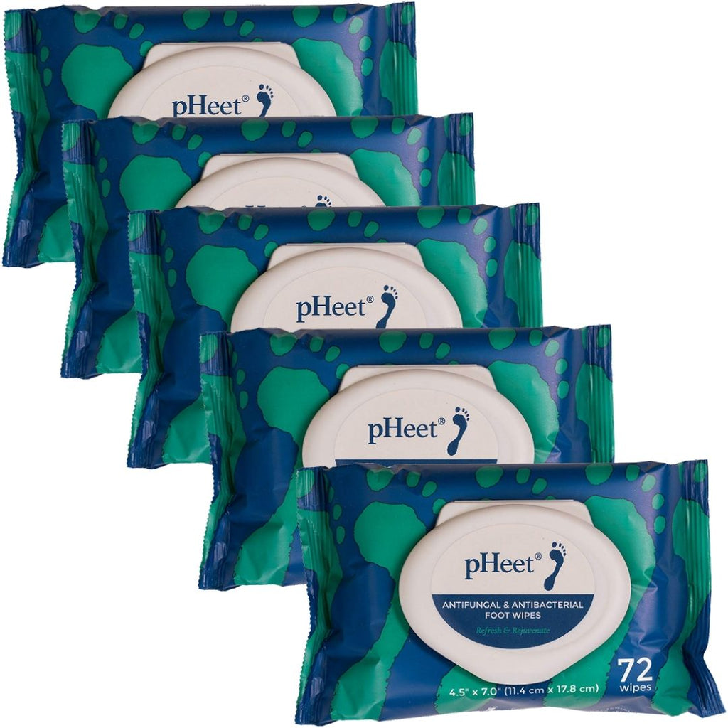 pHeet® Foot Wipes: 5 Packs (5-Month Supply)
