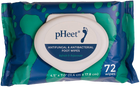 pHeet® Foot Wipes All Natural, Antifungal and Antibacterial Wipes Prevent Foot Odor, Toenail Fungus, Foot Fungus, Athletes Foot and Improve Dry, Cracked, Flaky Skin on Feet