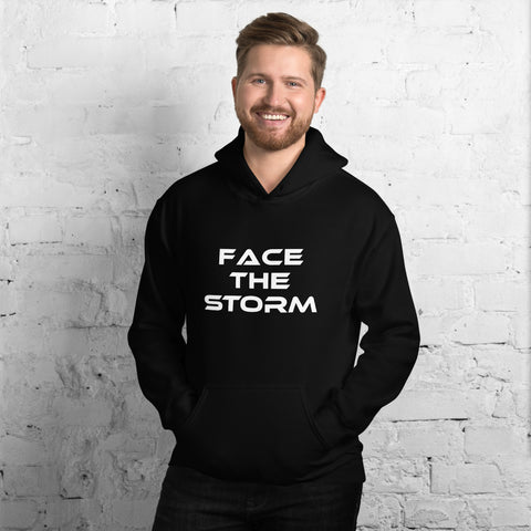 "Men's Dark Color ""Face The Storm"" Hoodie"