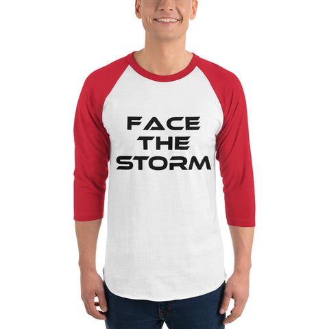 "Men's Light Color 3/4 Sleeve ""Face The Storm"" Shirt"
