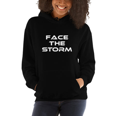"Women's Dark Color ""Face The Storm"" Hoodie"
