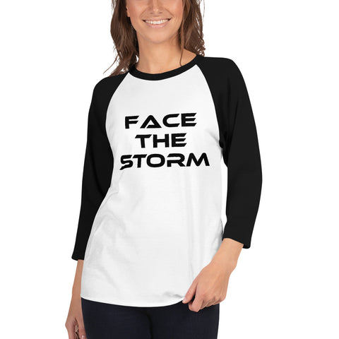 Women's Light Color 3/4 Sleeve Face The Storm Shirt