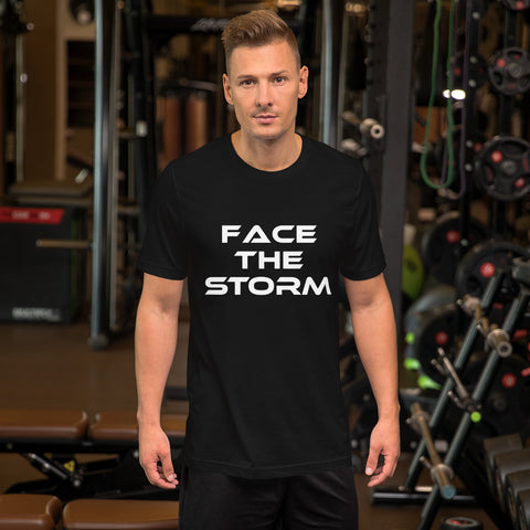 "Men's Dark Color ""Face The Storm"" Tee"