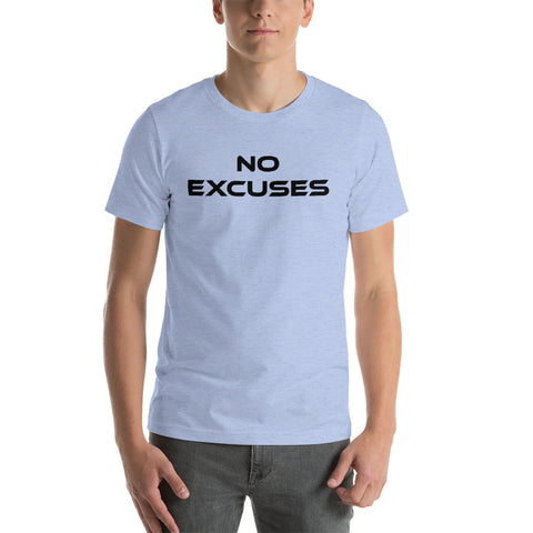 "Men's Light Color ""No Excuses"" Tee"