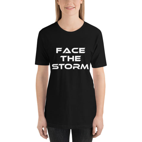 "Women's Dark Color ""Face The Storm"" Tee"