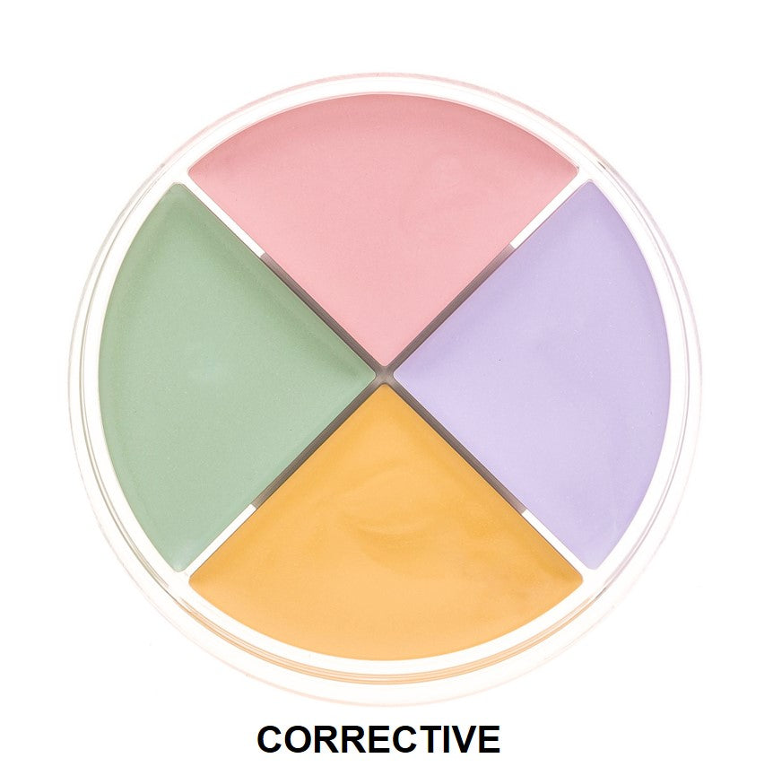 Color correcting concealer wheels