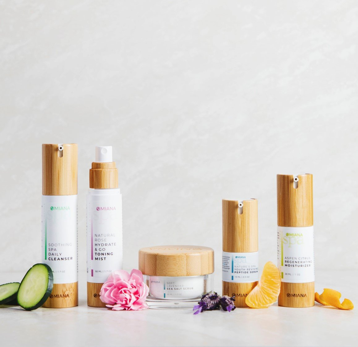 Omiana Natural Spa Skincare for Sensitive Skin Pure Glow Skincare Routine Complete Bundle