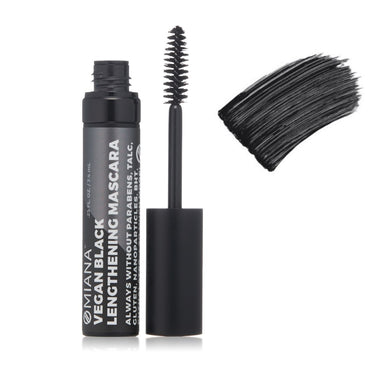 Omiana Vegan Black Lengthening Mascara. Vegan Black Lengthening Mascara - No Mica, Titanium Dioxide. Brilliant at holding a curl & lengthening lashes without nasty chemicals, fillers, dyes, parabens.