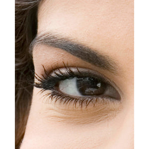 Naturally beautiful, black mascara eye image with smiling eye