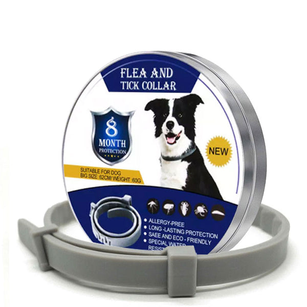 Anti Flea Dog Collar Remove Fleas Tick Dogs Cat Collars Outdoor Mosquito Lice Repellent Long-term Protection Pet Supplies - ourfurryfriendshub