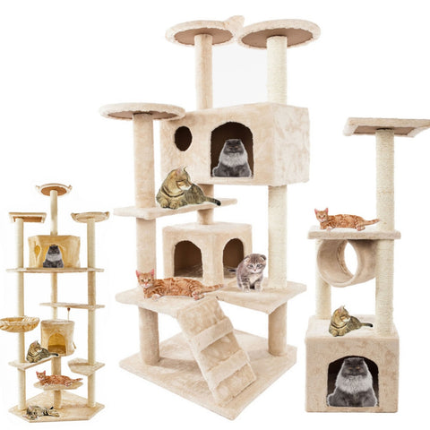 Cat Scratching Post Climbing Tree Toy Activity House - ourfurryfriendshub