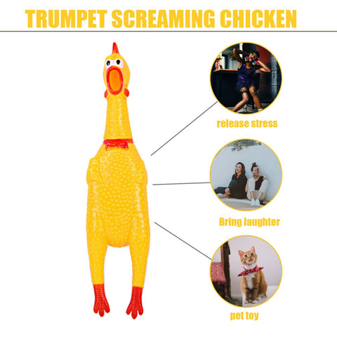 Pets Toy Squawking Rooster - ourfurryfriendshub