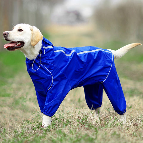 Raincoat Reflective Waterproof Hooded Jumpsuit Small Big Dogs - ourfurryfriendshub