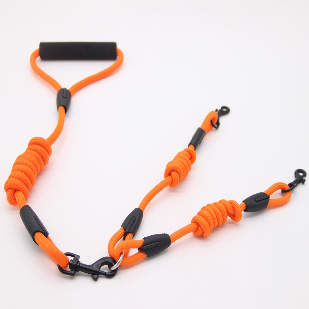 Walk 2 Pets 1 Leash Nylon No Tangle - ourfurryfriendshub
