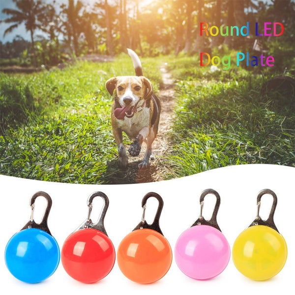 Dog Accessories Collar Led Flashing light Puppy Cat Neck Decorate Pendant Battery Safety Night Dark Glow Anti Lost Pet Supplies - ourfurryfriendshub