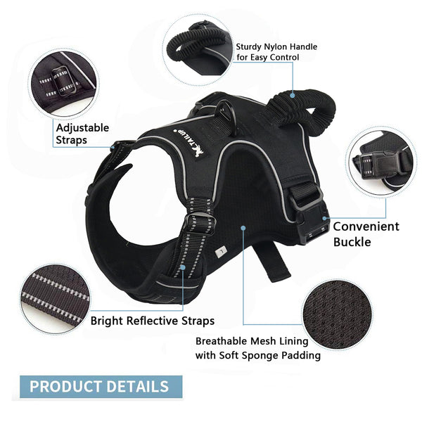 Reflective Padded Adjustable Dog Harness - ourfurryfriendshub