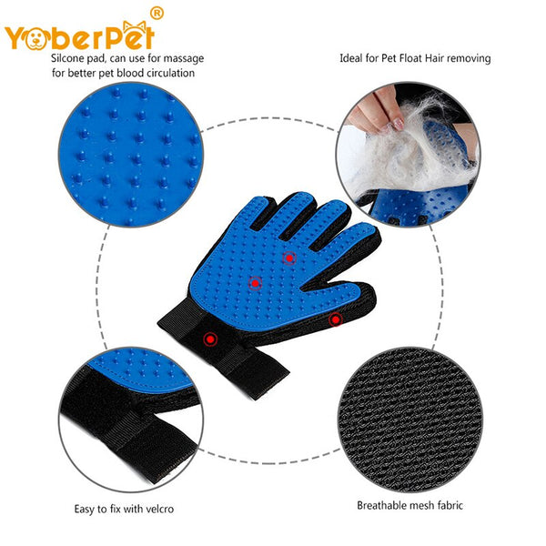 Pets Glove Massage Bath Comb Hair Removal Brush - ourfurryfriendshub