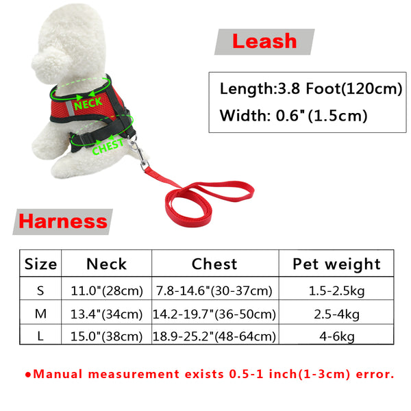 Breathable Small Pets Harness and Leash Set - ourfurryfriendshub