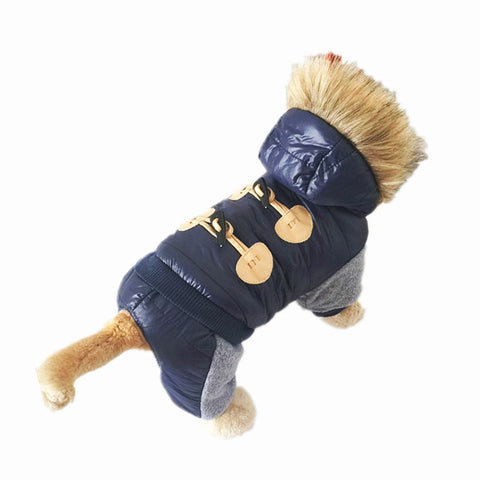 Winter Hooded Jumpsuit For Dogs - ourfurryfriendshub