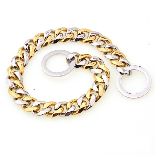 15mm Stainless Steel Gold Silver Slip Collar - ourfurryfriendshub