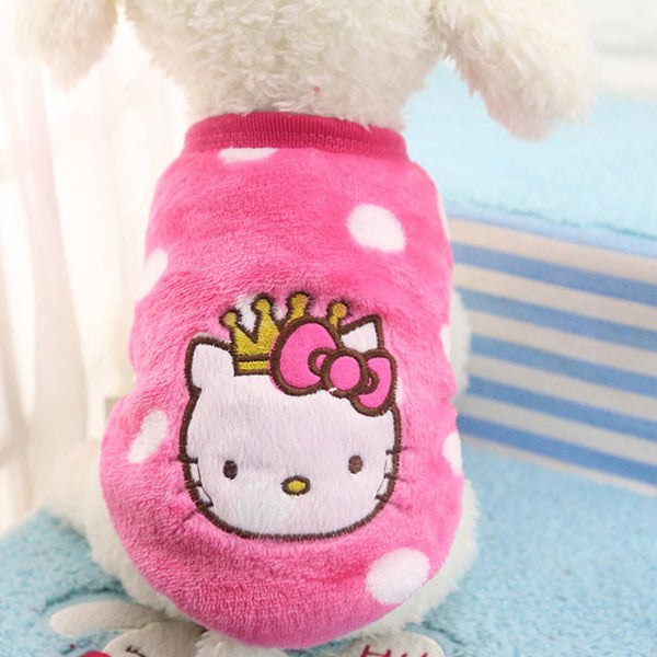 Winter Warm Cartoon Pet Clothes for Small Dogs Cats Soft Fleece Cat Dog Coat Jacket Puppy Clothing Outfits Chihuahua Pet Clothes - ourfurryfriendshub