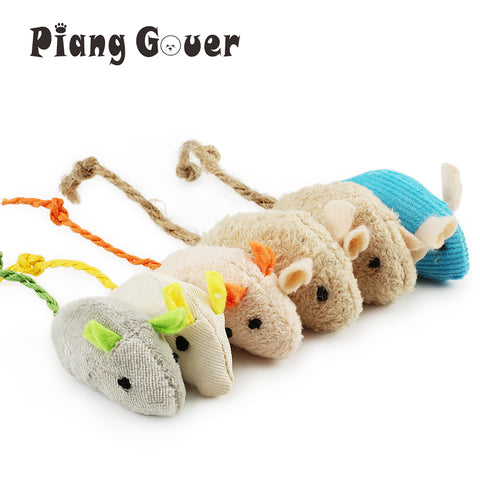 6pcs Catnip Plush Mouse Cat Kitten Toy - ourfurryfriendshub