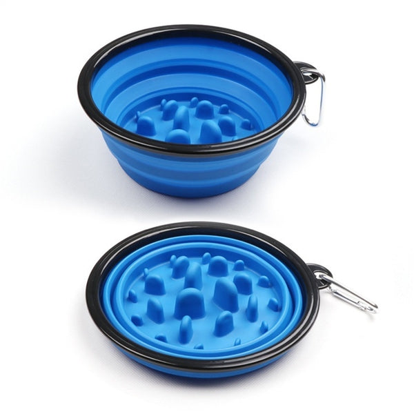 Collapsible Silicone Pets Bowl Food Water - ourfurryfriendshub