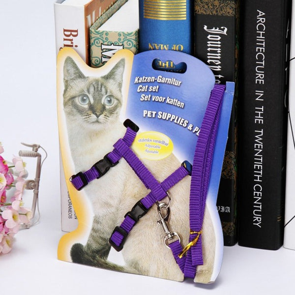 Adjustable Cat Dog Chest Strap Harness  With Hand Strap - ourfurryfriendshub