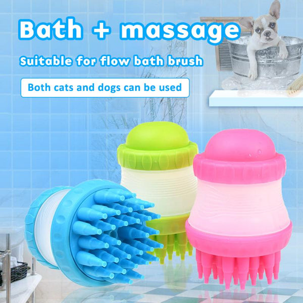 Pets Hair Deshedding Bath Massage Hair Remover Brush - ourfurryfriendshub