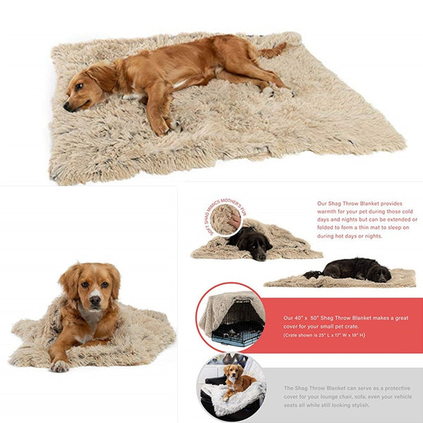 Plush dog beds for large dog in dog   Winter cat Bed Mat Soft  Pet   long plush Dog Kennel  pet blanket  dog house bed - ourfurryfriendshub