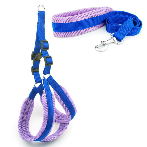 Dog Harness Vest Leash Solid Breathable Mesh - ourfurryfriendshub