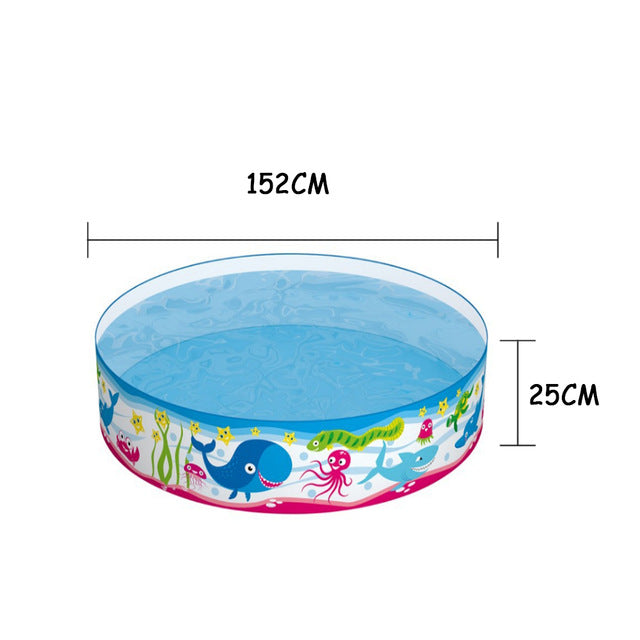 152x25cm Dog Pool Foldable Pet Swimming Pool Bath Swimming Tub Bathtub Children Swimming Pool Bathing Pool for Dogs Cats Kids - ourfurryfriendshub
