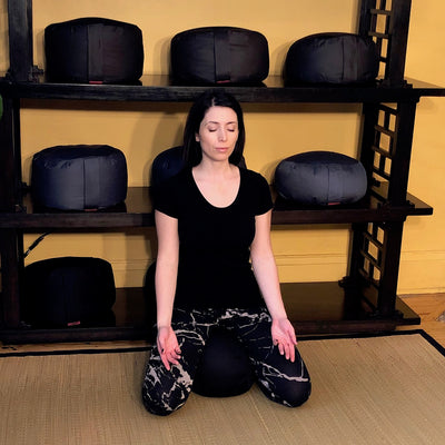 How to sit on a Zafu Meditation Cushion