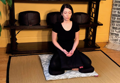 How to Use a Zabuton Meditation Mat