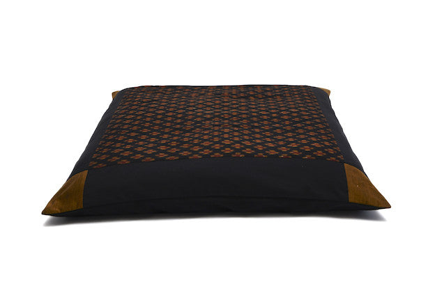 Zabuton Meditation Mat - Gold Crosses