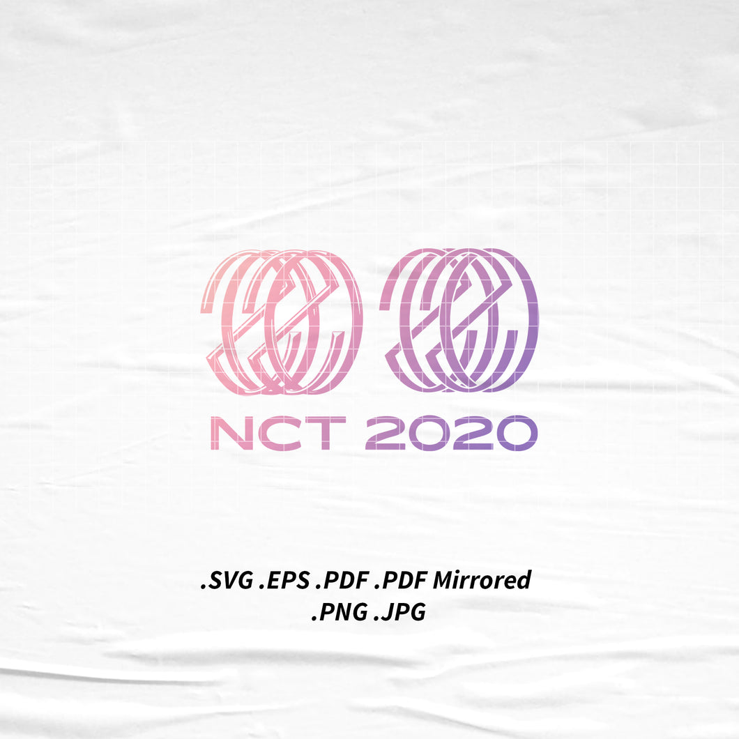 (INSTANT DOWNLOAD) NCT 2020 Dream 127 U Logo SVG Png Eps Pdf Vector Cutting File for Cricut Cameo Silhouette