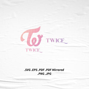 (INSTANT DOWNLOAD) Twice More & More Logo Tshirt SVG Png Eps Pdf Vector Cutting Cut File for Cricut Cameo Silhouette