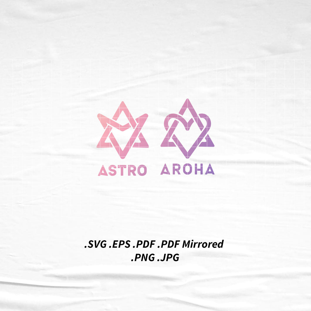 (INSTANT DOWNLOAD) ASTRO x AROHA Logo SVG Png Eps Pdf Vector Cutting File for Cricut Cameo Silhouette