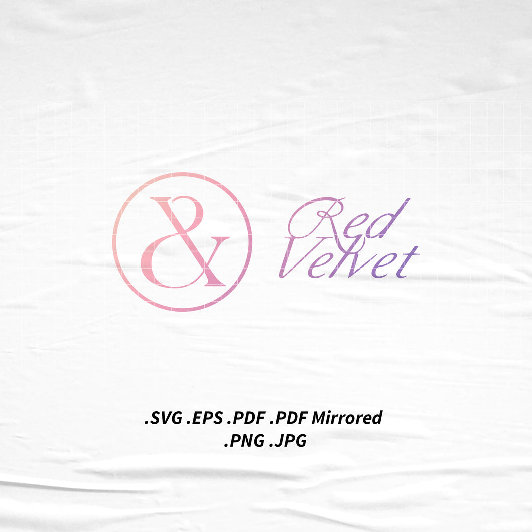(INSTANT DOWNLOAD) Red Velvet Irene x Seulgi Monster Logo SVG Png Eps Pdf Vector Cutting File for Cricut Cameo Silhouette