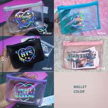 Load image into Gallery viewer, (Free Photocard 3ea+Photo Locket Keyring 1ea) CREATE YOUR OWN Jelly Zip Hologram Wallet
