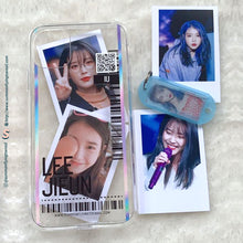 Load image into Gallery viewer, (FREE Photocard 4ea) Custom Clear Changeable Photocard Phonecase for iPhone and Androids