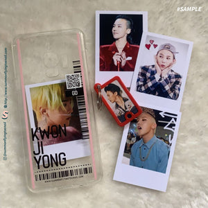 (FREE Photocard 4ea) Custom Clear Changeable Photocard Phonecase for iPhone and Androids